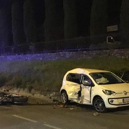 Moto contro auto a Credaro Muore un 43enne di Bagnatica