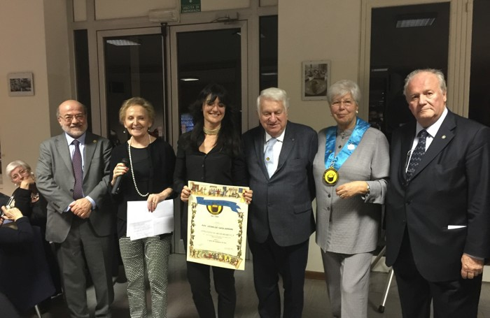 La premiazione della vincitrice Leonilde Gagliardini