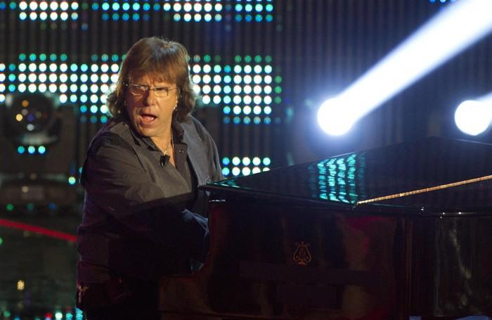 Il  tastierista e pianista  Keith Emerson nel 2013 a Roma