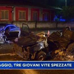 Caravaggio. Terribile incidente stradale: Alessandro, Daniele e Alessio tre giovani vite spezzate