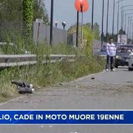 Treviglio, 19enne cade dalla moto e muore sul colpo