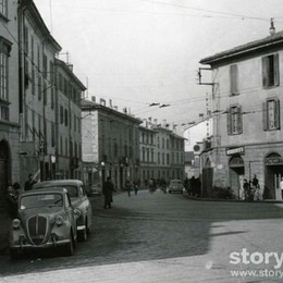 Via Previtali, correva l'anno 1954 Un angolo di città (quasi) intatto