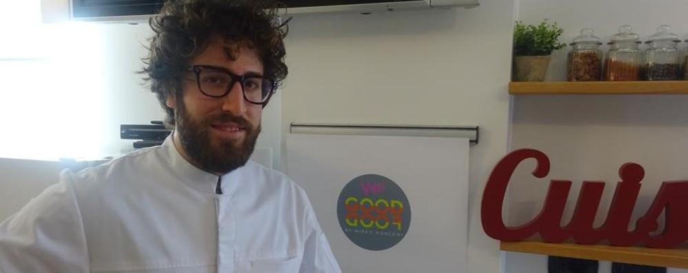 Lo chef Ronzoni  apre laboratorio in città Solo vegetariano e consegna a domicilio