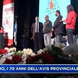 Bergamo, i 70 anni dell'Avis