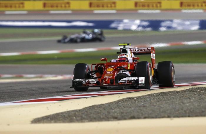Raikkonen in azione in  Bahrain