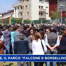 Dalmine. Inaugurato un nuovo parco a Falcone e Borsellino