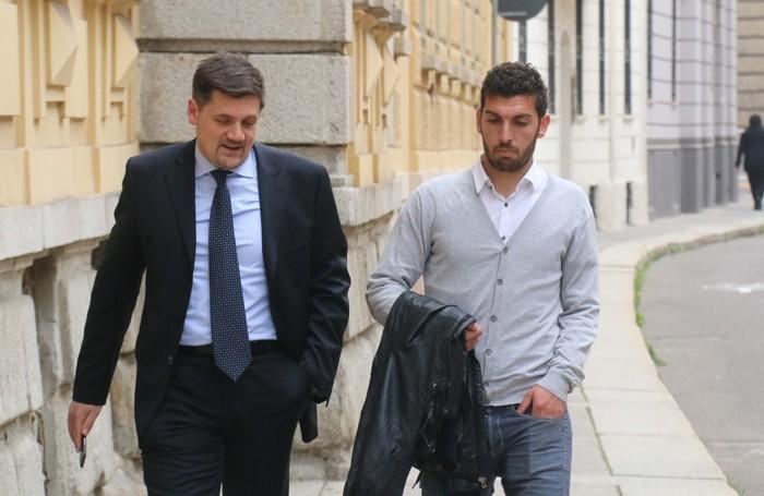 Guido Marilungo con il suo legale,  l'avvocato Siciliano
