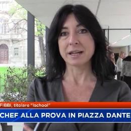 Bergamo, futuri chef a scuola in piazza Dante