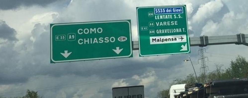 La Pedemontana vuole andare avanti Ma sono spariti i cartelli «Bergamo»