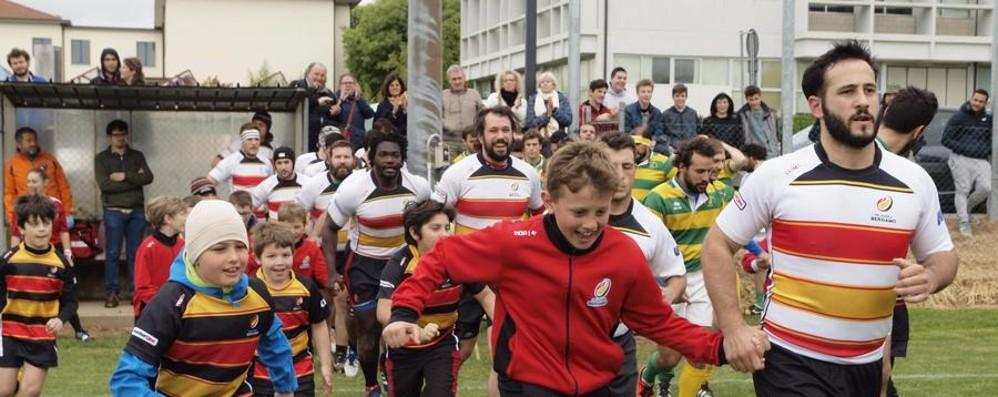 Rugby Bergamo, è qui la festa - Foto Ritorno in serie B con un turno d'anticipo