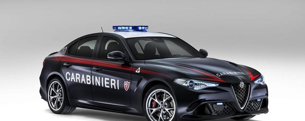Alfa Giulia Quadrifoglio per l'Arma dei carabinieri