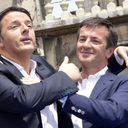 Il premier Renzi comincia da Bergamo la sua campagna per il referendum