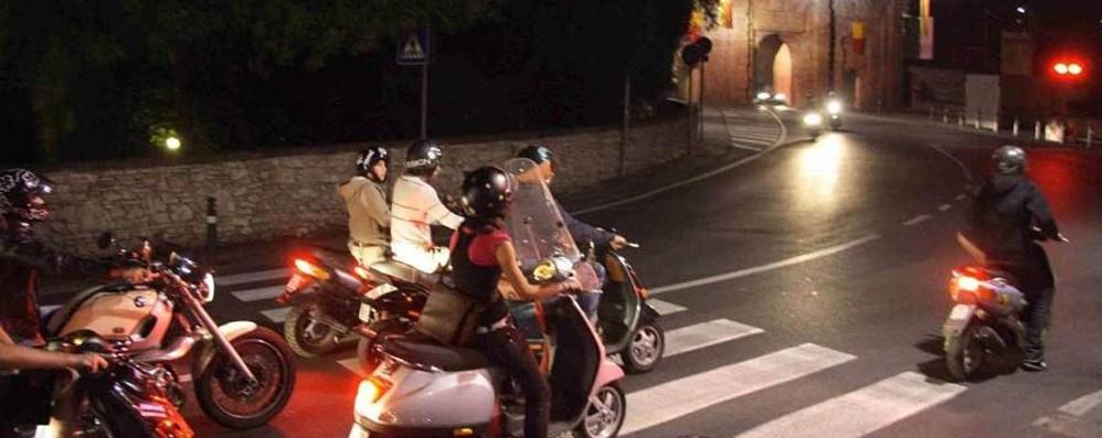 Città Alta, via libera a tutte le moto Telecamere ai varchi: ecco la mappa