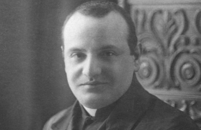 Don Angelo Roncalli, futuro Papa Giovanni XXIII, quando era segretario di monsignor Radini Tedeschi