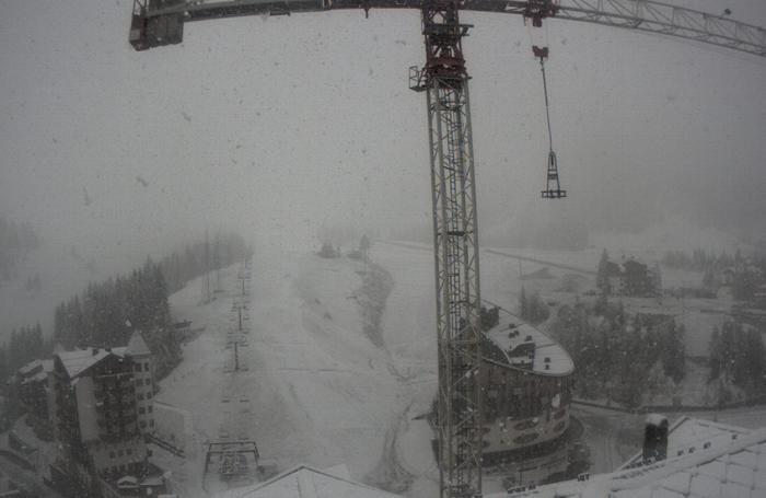 Neve a Foppolo il 19 maggio