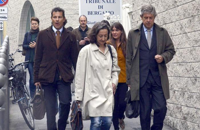 Da sinistra l'avvocato Enrico Pelillo, il pm Letizia Ruggeri e l'avvocato Andrea Pezzotta
