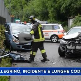 San Pellegrino Terme, incidente con tre feriti provoca lunghe code