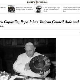 Il New York Times ricorda Capovilla «Chiamò il Papa e fu discorso della luna»