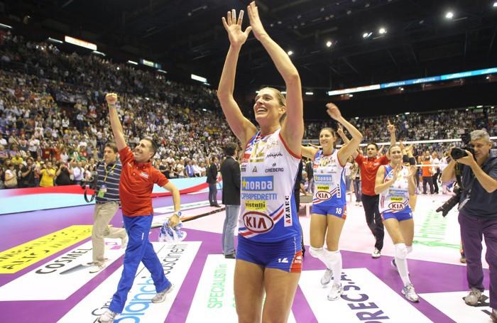 Francesca Piccinini tricolore con la Foppa nel 2010/11