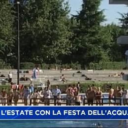 Bergamo con l'estate la festa dell'acqua alle piscine Italcementi
