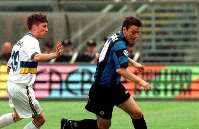 Una delle primissime azioni in maglia nerazzurra contro il Verona