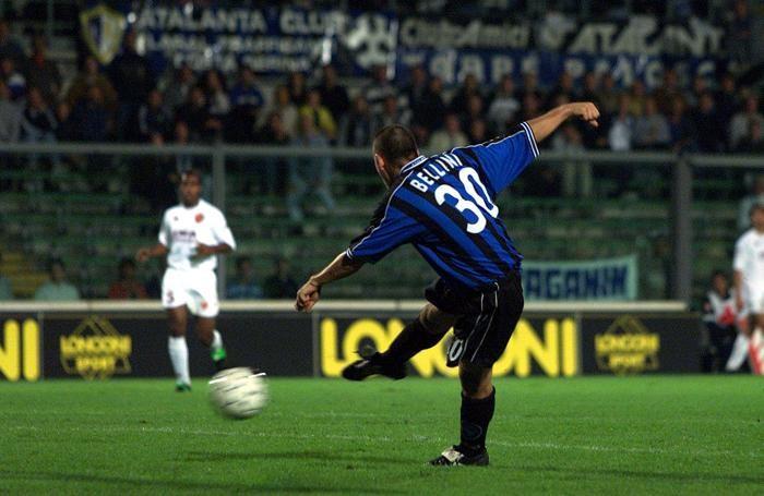 Il gol di Bellini al Comunale contro la Roma
