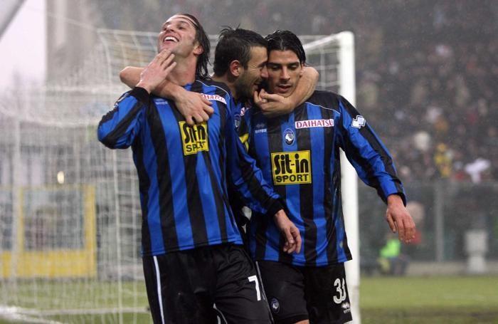 Bellini tra Doni e Floccari, i marcatori di Atalanta-Inter 3-1 del 2009