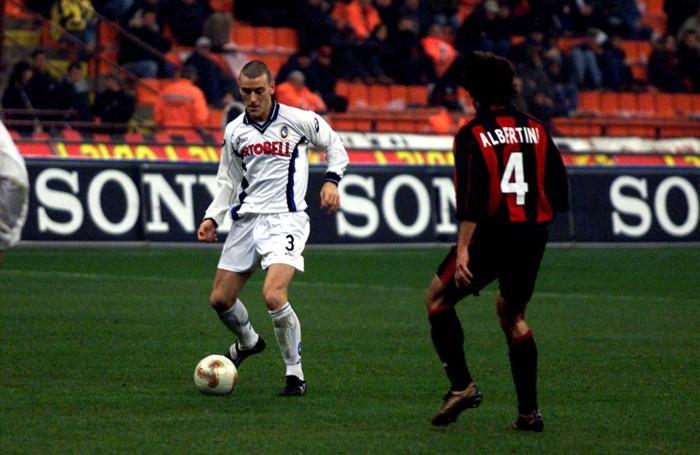 Bellini contro Albertini in Milan-Atalanta 0-0 del 17 febbraio 2002