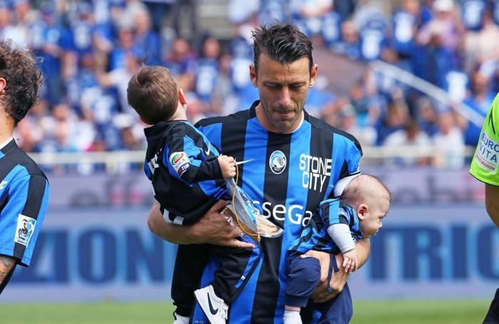 Bellini con i due figli, Federico e Luca