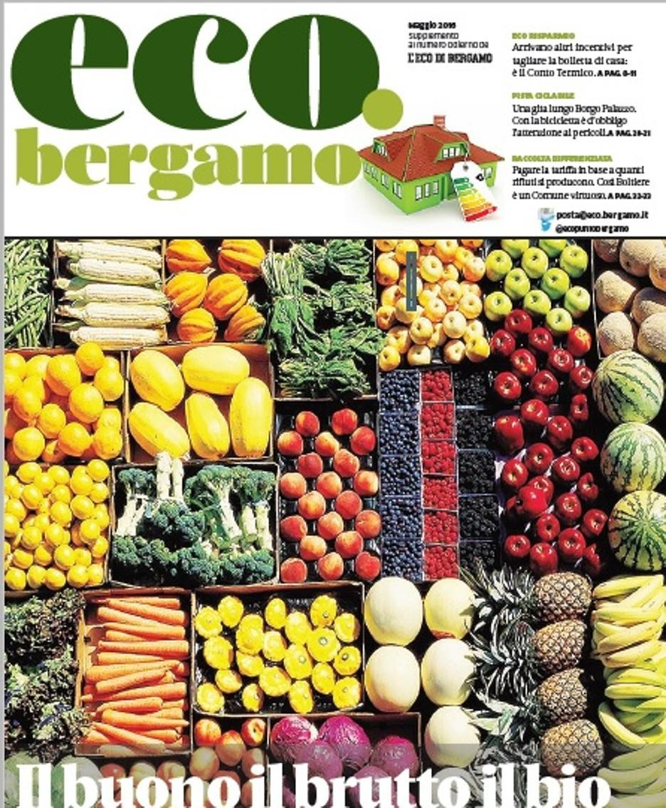 La copertina del numero di maggio 2016 di «eco.bergamo»