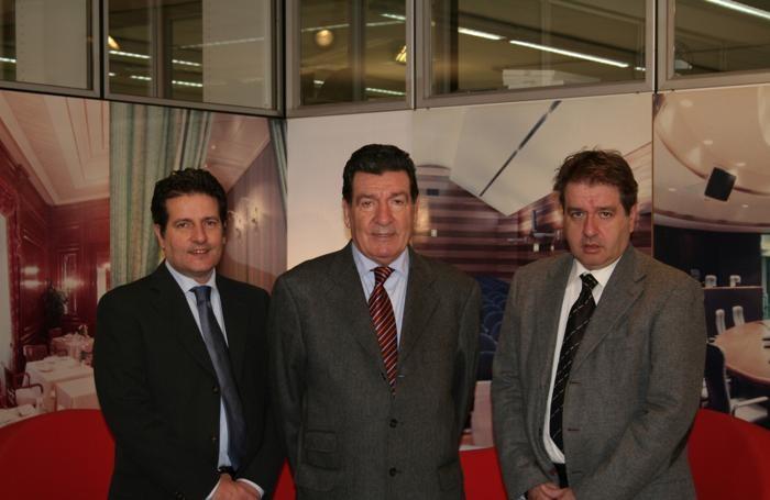 Da sinistra, Guido, Tino e Gianpaolo Sana