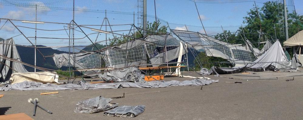 Maltempo ad Aviatico: ko lo spazio feste Rossi: «Chiederemo lo stato di calamità»