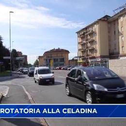 Bergamo, nuova rotatoria alla Celadina