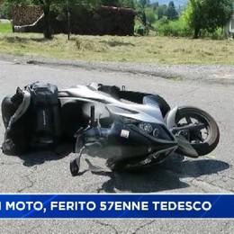 Cade in moto in val Borlezza, ferito 57enne tedesco