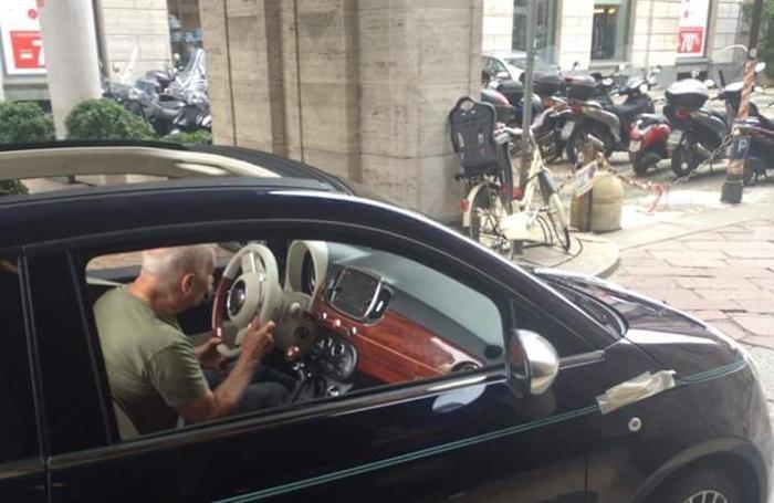 Una foto «spia» della Nuova Fiat 500 Riva