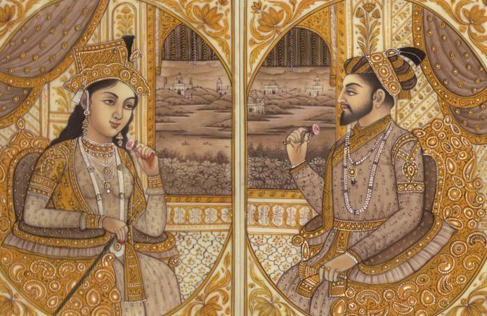 La principessa Arjumand Banu Begum e l'imperatore Shah Jahanaroli