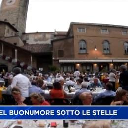 Cena del Buonumore in Piazza Vecchia