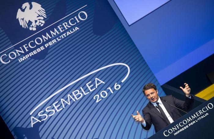 Matteo Renzi a Concommercio