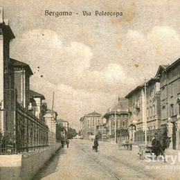 Via Paleocapa, correva l'anno 1916 Dai carretti di allora al traffico di oggi