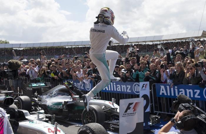 La gioia di Lewis Hamilton