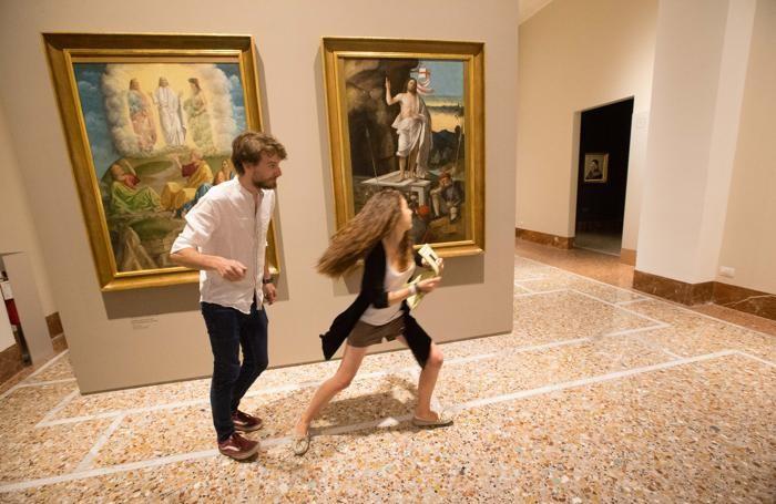 Caccia al dipinto all'Accademia Carrara