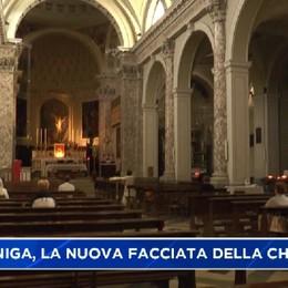Gazzaniga: inaugurata la facciata della chiesa