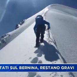 Incidente sul Bernina, gravi due bergamaschi, morta la guida svizzera che li accompagnava