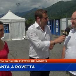 L'Atalanta a Rovetta sotto la guida di Gasperini salutato dai tifosi genoani