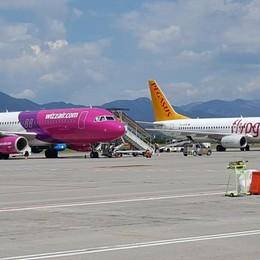 È atterrato regolarmente a Orio il volo Pegasus in arrivo da Istanbul