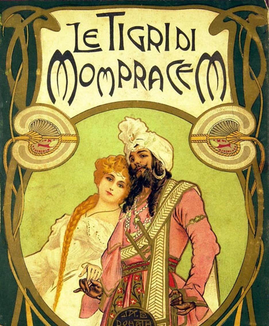 Una romantica edizione delle avventure di Sandokan. La «Tigre di Mompracem»  venne pubblicata nel 1900