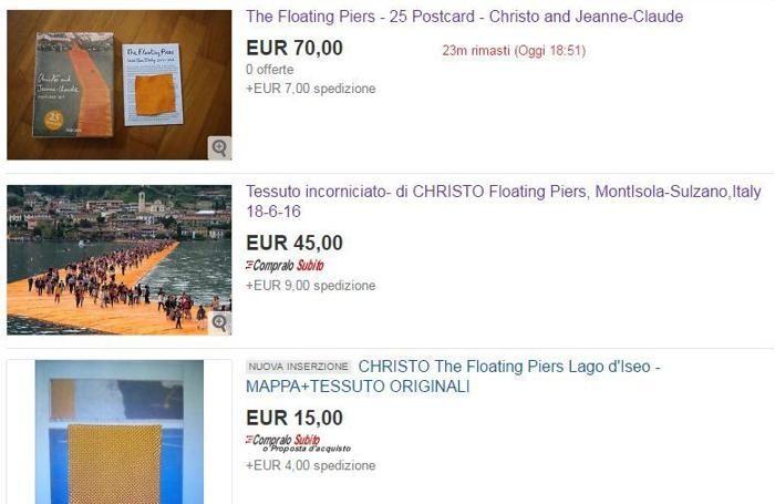 Gadget all'asta su Ebay (screenshot del 2 luglio)