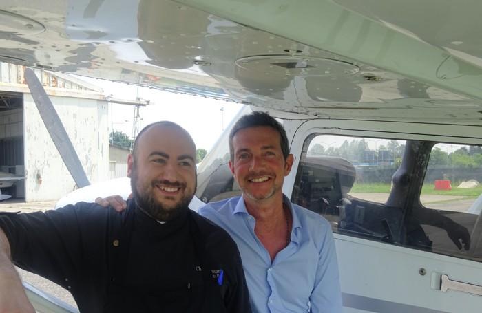 Alessandro Martinelli, a sinistra, e Lorenzo Malafarina
