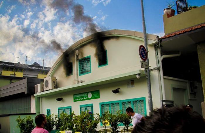 Il fumo che esce dalla moschea di via Cenisio