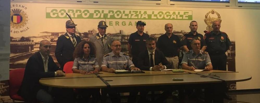 A Bergamo arrivano i vigilantes Già operativi di notte in aree sensibili